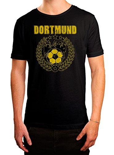 Dortmund #3 Premium T-Shirt   Fussball   Fan-Trikot   #Jeden-Verdammten-Samstag   Herren   Shirt, Farbe:Schwarz (Deep Black L190);Größe:M