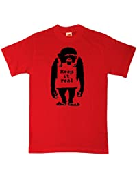 Refugeek Tees - Hommes Banksy T Shirt - Keep It Real