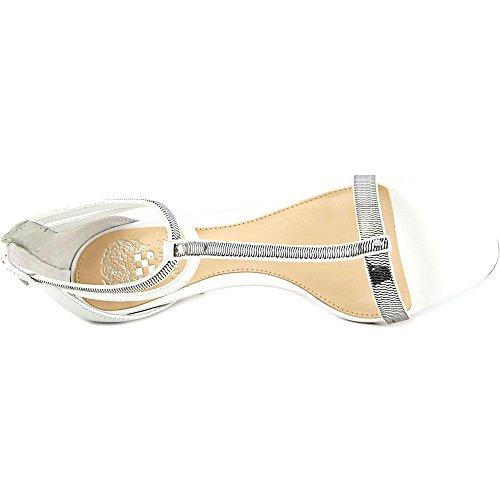 Vince Camuto Makoto Damen Leder Sandale Picket Fence/Silver