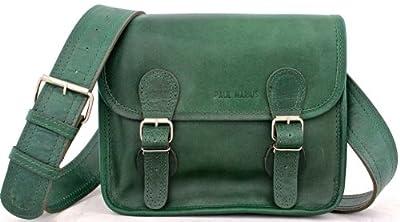 LaSacoche (S) Besace cuir bandoulière de couleur vert Emeraude style Vintage PAUL MARIUS