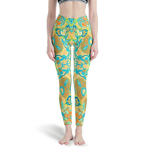 NeiBangM Joggen Yoga Leggings Mädchen Lotus Workout Tights für Laufen White xs