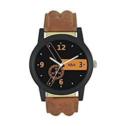 A&A CORP Black Dial Analogue watch for Men