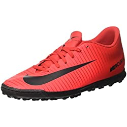 Nike Mercurialx Vortex III TF, Scarpe da Calcio Uomo, Multicolore (University Redblackbright Crimson), 43 EU