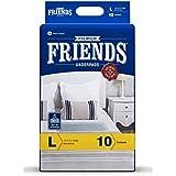 FRIENDS Premium Underpads - Unisex Adult Changing Mats - Size = 60 X 90 Cm - L - 10 Pcs