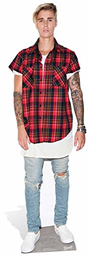 Starl Cut Outs Ltd Justin Bieber scopo vita dimensioni cartone Cut Out, Multicolore