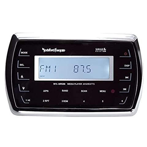 Rockford Fosgate RFXMR5BB Marine Hard Wired Remote For/RFX3000 - LCD display