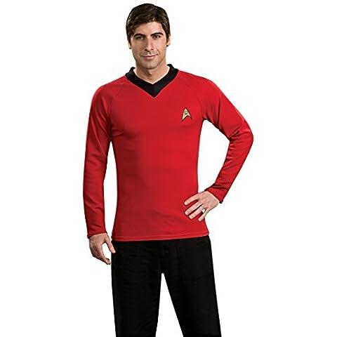 UMM 560854 X-Large Shirt Star Trek Classic rojo con emblema Pin