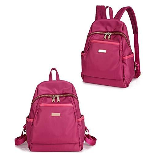 Beauty Case da Viaggio BorsaNylon oxford tela zaino spalla femminile grande capacità collegio vento casual selvaggio rosso grande