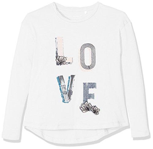 NAME IT Mädchen Langarmshirt Nitjubina LS Top F Nmt Weiß (Snow White), 158 (Herstellergröße: 158-164) (Schickes Mädchen Shirt)