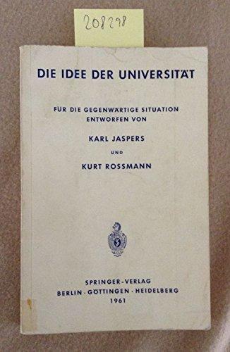 Die Idee der Universität