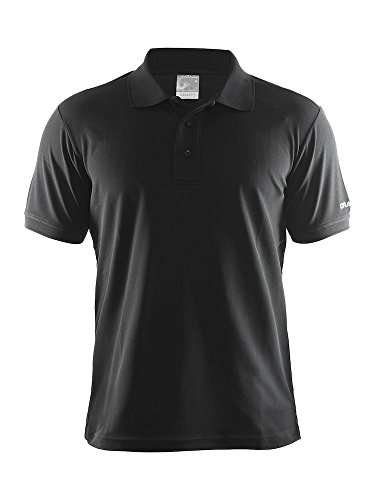 Craft Herren Poloshirt Polo Pique Classic, Black, XXL