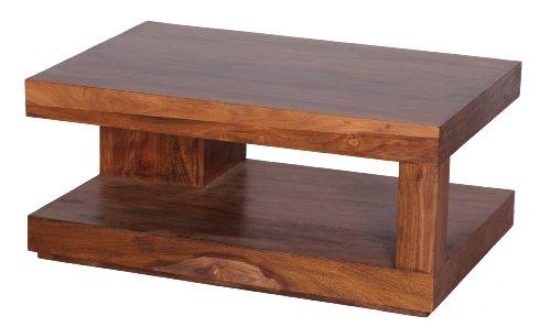 Couchtisch Massiv Holz Sheesham 90 Cm Breit Wohnzimmer Tisch Design  Landhaus Stil Beistelltisch