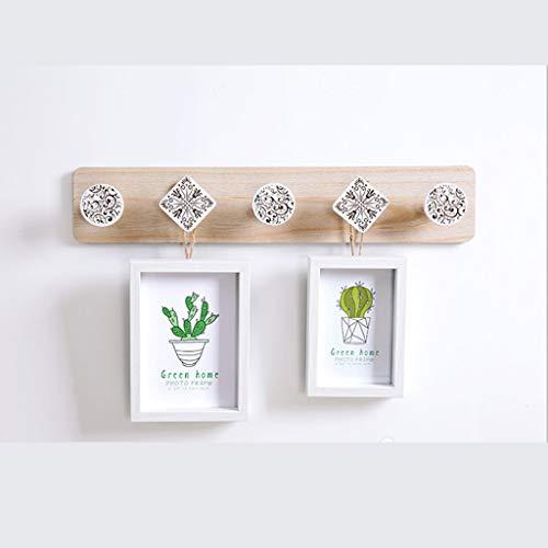 TianranRT❄ Eingangsaufhänger,Wandaufhänger Regalaufhänger Halter Handtuchhülle Für Schlafzimmerzubehör (Holz)
