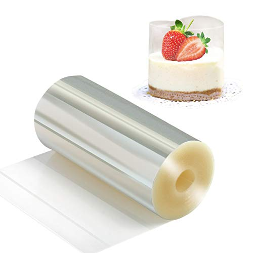 Cake Collars 10cm x 10m x 125micron - Vindar Clear Acetate Strips, Transparent Acetate Roll, Mousse Cake Collar for Chocolate Mousse Baking, Cake Decorating