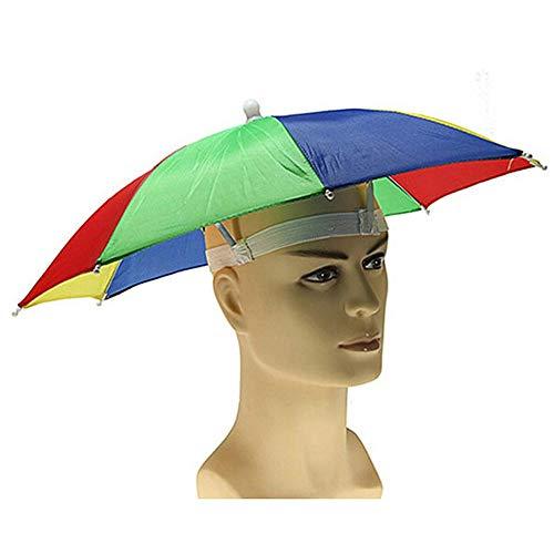 Vektenxi Schirmmütze Tragbare Kopfbedeckung Schirmmütze Sonnenschirm Schirmmütze mit Freisprecheinrichtung zum Angeln, Strand, Outdoor-Aktivitäten 1 Stck (Quallen Kostüm Regenschirm)