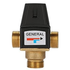 comprar suelo radiante: Válvula de mezcla caliente y fría de 3 vías DN20 de latón termostático para el s...