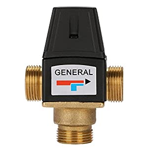 Válvula de mezcla caliente y fría de 3 vías DN20 de latón termostático para el sistema de ducha solar de agua calentador…