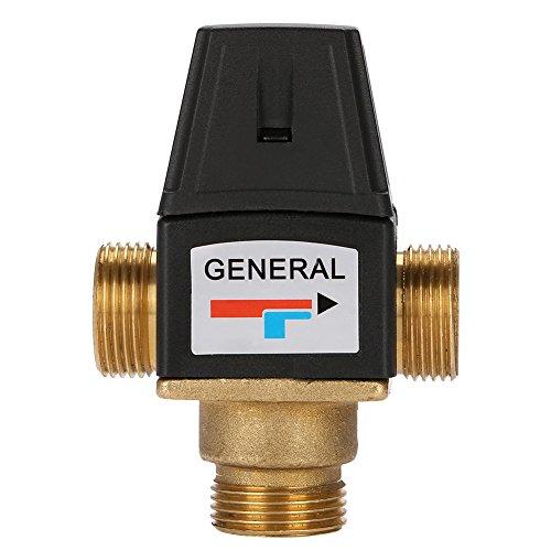Messing-3-Wege-Thermostatmischventil mit Außengewinde DN20 und Außenanschlüssen für Solarwarmwasserbereiter (Wasser-heizung, Automatische Abschaltung Ventil)