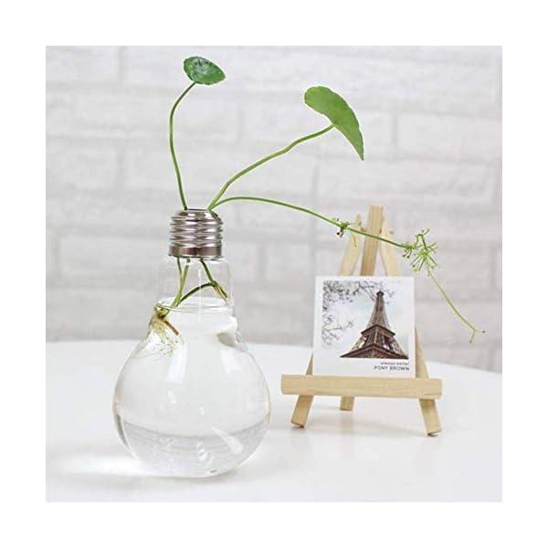 Ruikey Bombilla de Bolas de Cristal de Mesa en Forma de Flor de Jarrón Florero Cristal Colgante Florero Bulbo Jarrones…