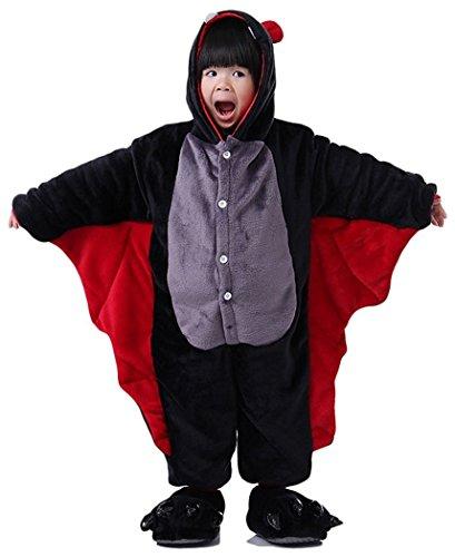 Kenmont Jumpsuit Tier Cartoon Einhorn Pyjama Overall Kostüm Sleepsuit Halloween Cosplay Animal Sleepwear für Kinder Baby (Größe85: Höhe 85-100, Bats)