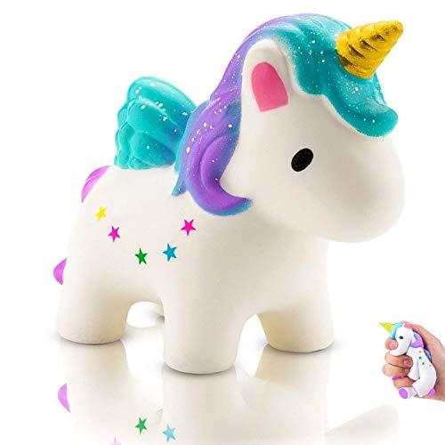 Eposeedor Squishy Unicornio, Squishy Kawaii Juguetes Antiestrés Niños Adultos, Slow Rising Squishy Unicornio Perfumado Lento Levantamiento