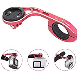 TrustFire Support de Guidon de vélo réglable pour vélo ou Scooter Support GPS pour chronomètre, caméra de Sport GoPro Garmin Bryton, Red