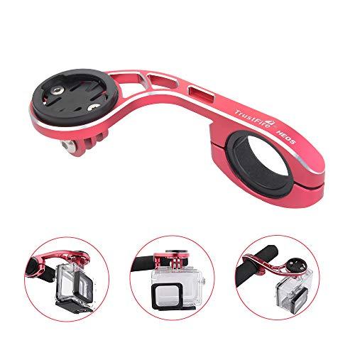 Garmin-gps-halter (TrustFire Fahrrad Halterung GPS Fahrradcomputer Lenkerhalterung Radfahren Halter für Sport Kamera Go Pro Garmin Edge, Bryton - Rot)