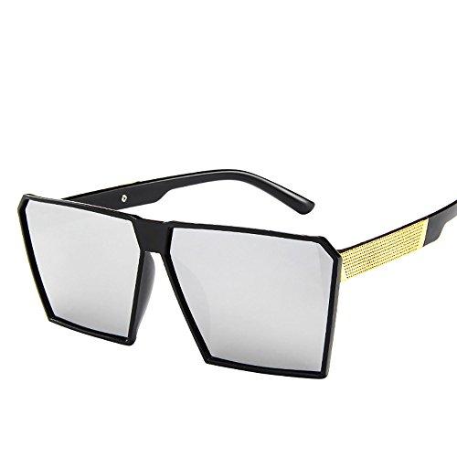 Battnot☀ Sonnenbrille für Damen Herren, Oversized Übergroße Verspiegelt Unisex Vintage Quadratische Mode Shades Anti-UV Gläser Schutzbrillen Männer Frauen Retro Billig Sunglasses Women Eyewear