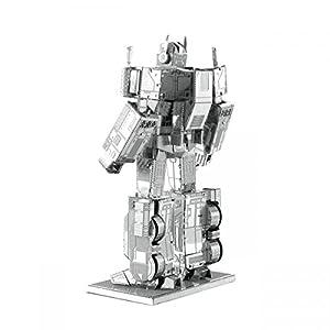 Juguetrónica- Maqueta metálica Optimus Prime - Transformers, Color metal (MMS300C2)