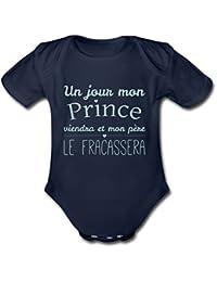 Naissance Un Jour Mon Prince Viendra Body bébé bio manches courtes de Spreadshirt®
