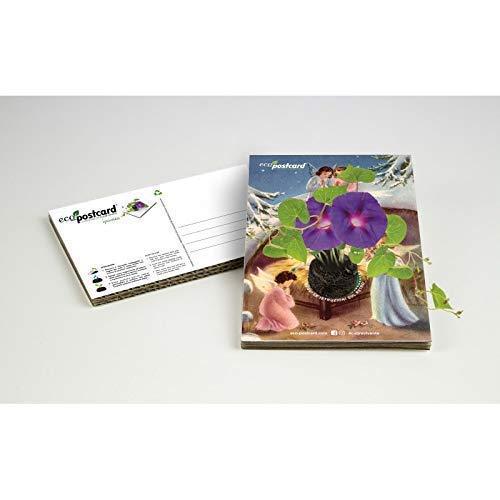 Eco-postcard natalizia con angioletti - ipomea