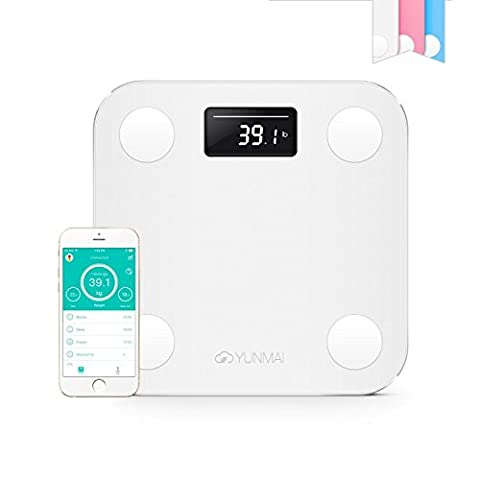 yunmai Mini Smart Poids Analyse Corps Pèse-personne Balance de salle de bain numérique Imc Bluetooth pour iOS et Android Téléphones Sans fil