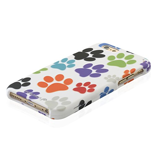 "Fosmon Apple iPhone 6 Plus (5.5"") Case (MATT-DESIGN) Unique Pattern Design Rubberized Cheveron Design Case Cover Colorful Dog Paws"
