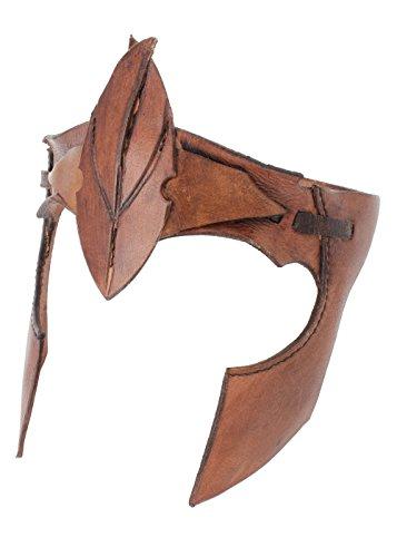 Elfen-Stirnband aus Leder Schwarz oder Braun LARP Fantasie Cosplay ()