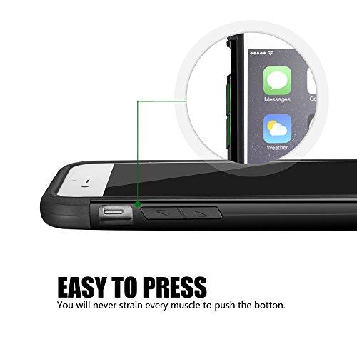 tinxi® Doppelt Silikon Schutzhülle für Apple iPhone 6/6s 4.7 zoll Silicon Rück Schale Tasche Cover Case Etui Schutz Kohlefaser in Gold Gelb doppelt gold