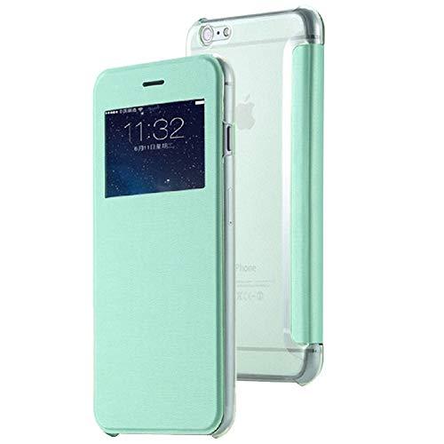 Roar Handy-Hülle für HTC One M9, Hülle Grün, Tasche Handytasche Schutzhülle [Slim Design Flip-Case mit Fenster]