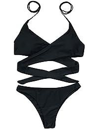 Ropa de baño Mujer Dos Piezas Mosstars Bikini Mujer Sujetador Push-up Traje de baño
