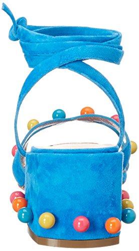 Kallisté 5057.11, Sandales Bout Ouvert Femme Blau (MEDITERRANEO)