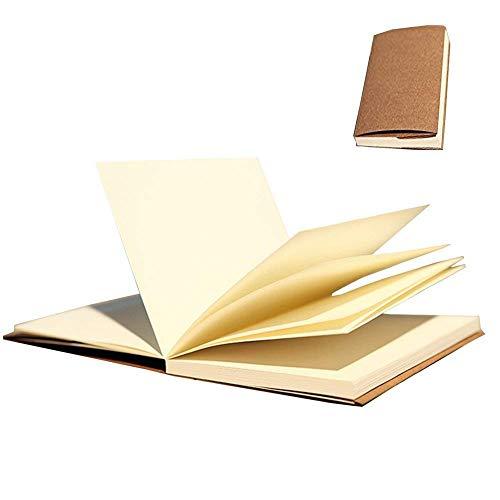 Gossipboy vintage Kraft cover notebook disegno Scrawl Notepad, diario di viaggio diario memo libro con copertina rigida, 56 fogli/112 pagine, Carta, Taccuino pagine bianche, 32K