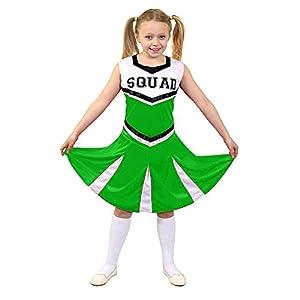 I Love Fancy Dress. ilfd7096m infantil Disfraz de animadora con Squad ImpresióN y falda (Tamaño Mediano)