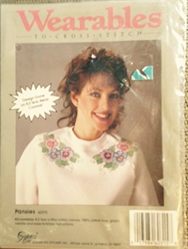 Pansies - Wearables to Cross Stitch Kit