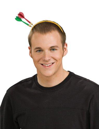 Haarreif mit Dart-Pfeilen im Kopf als Halloween Kopfschmuck & (Kostüm Pfeile)