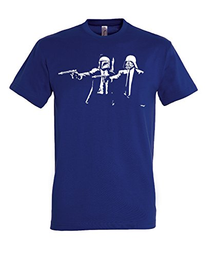 TRVPPY Herren T-Shirt Modell Trooper Storm Pulp Fiction Darth in vielen versch. Farben, Gr. S-5XL Navyblau