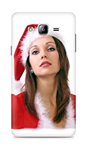 Amez designer printed 3d premium high quality back case cover for Samsung Galaxy ON7 (Santa Girl 6)