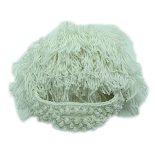 Perücke-Bart-Hüte verrückter Wissenschaftler-Rasta-Höhlenbewohner-handgemachte Knit-warme Winter-Kappen-lustige Partei-Masken-Beanies White