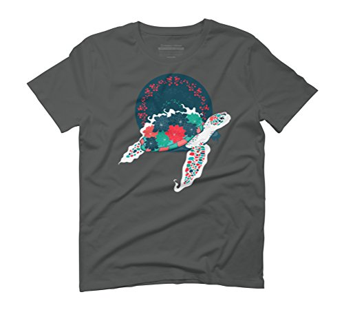 Honu Men's Graphic T-Shirt - Design By Humans Anthracite