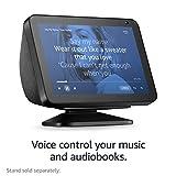Introducing Echo Show 8 | 8 HD smart display with Alexa, Charcoal fabric