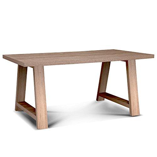 Cribel melody tavolo, legno, olmo dark, 180x85x75 cm
