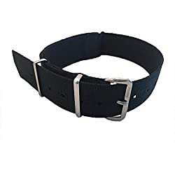 NATO G10 Nylon Watch Strap by Phoenix Straps Classic NATO Black 20mm