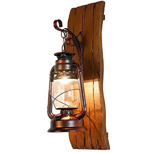 Yaione Anti-Rost Single Head Industrie Vintage Retro Holz Metall Malerei Farbe Wandleuchte für das Haus/Hotel/Korridor schmücken Wandleuchte Veranda Leuchten für Garage